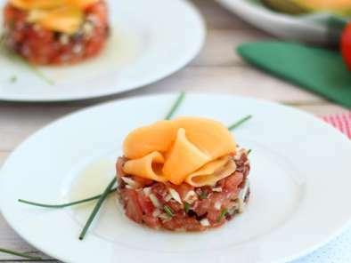 billes de melon au porto et jambon de parme recette ptitchef. Black Bedroom Furniture Sets. Home Design Ideas