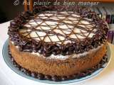 Recette Gâteau au fromage cappuccino et chocolatissimo
