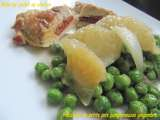 Recette Fricassee de petits pois pamplemousse gingembre
