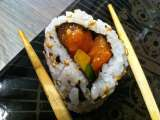 Recette California rolls mango - saumon mangue avocat
