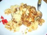 Recette Crumble bananes pommes pate de speculoos