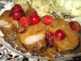 Recette Filet de porc, sauce orange et canneberges