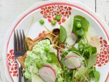 Recette Tartines of brioche and crushed peas