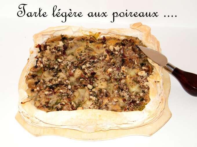 L g re avec tarte poireau 10 recettes sur ptitchef - Tarte aux poireaux legere ...