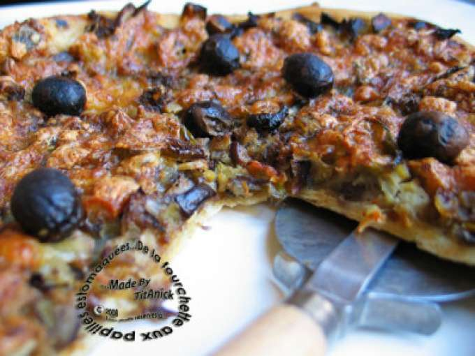 pizza avec aubergine poivron 17 recettes sur ptitchef. Black Bedroom Furniture Sets. Home Design Ideas