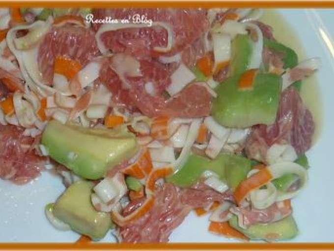 salade avec surimi pamplemousse 8 recettes sur ptitchef. Black Bedroom Furniture Sets. Home Design Ideas