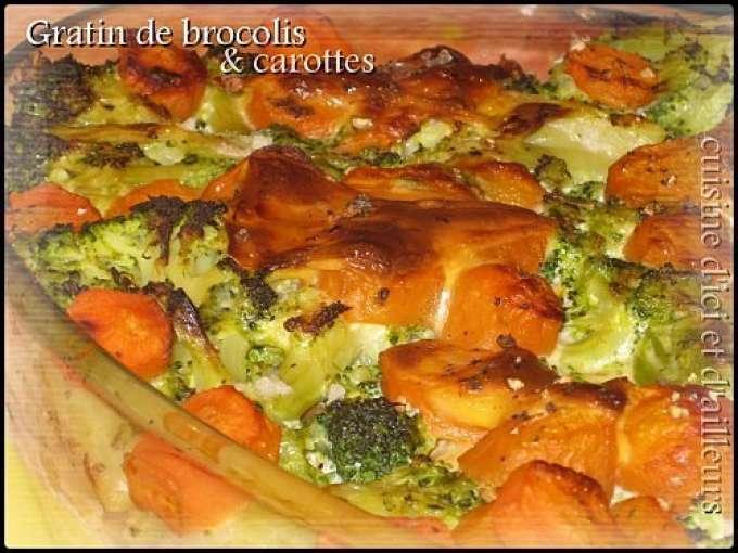 gratin de brocolis carottes recette ptitchef. Black Bedroom Furniture Sets. Home Design Ideas