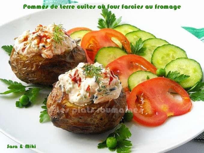 Pommes de terre cuites au four farcies au fromage recette ptitchef - Conservation pommes de terre cuites ...