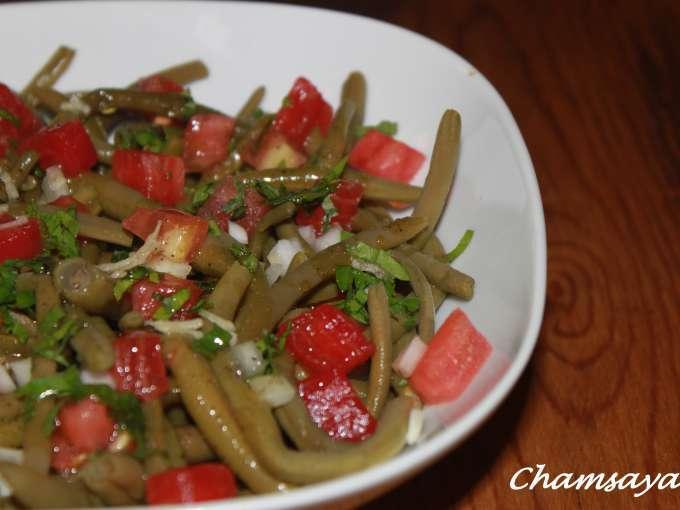 Salade de haricots verts et tomates recette ptitchef - Salade de tomates simple ...