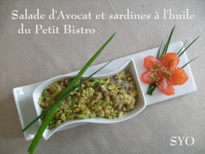 salade d 39 avocat aux sardines du petit bistro de mamigoz recette ptitchef. Black Bedroom Furniture Sets. Home Design Ideas