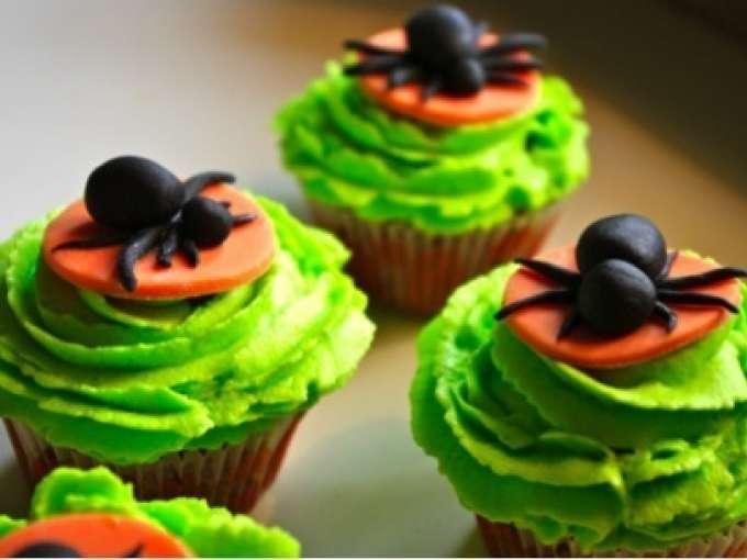 Cupcakes d 39 halloween recette ptitchef - Aperitif dinatoire halloween ...