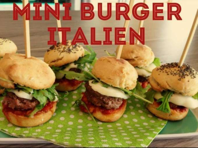 mini burger italiens recette ptitchef. Black Bedroom Furniture Sets. Home Design Ideas