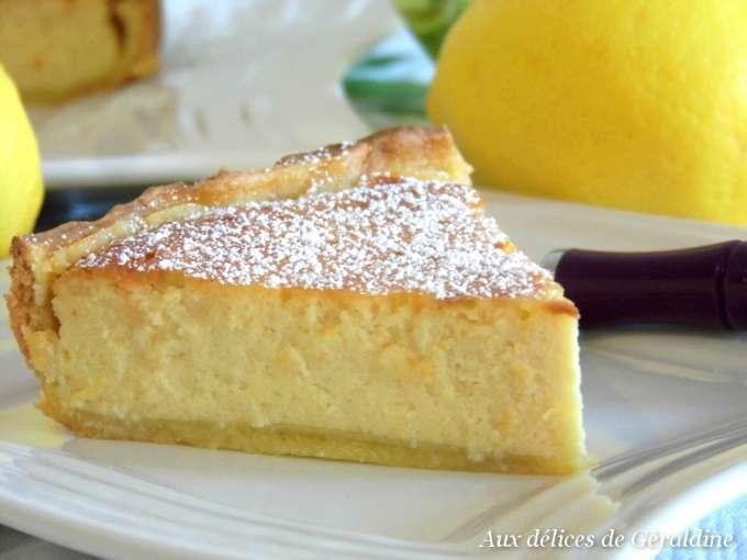 tarte ricotta citron recette ptitchef