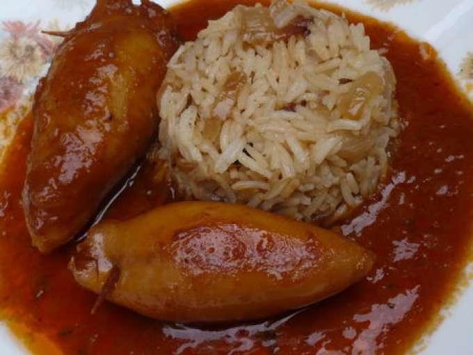 Encornets farcis aux amandes sauce am ricaine recette - Recette traditionnelle cuisine americaine ...