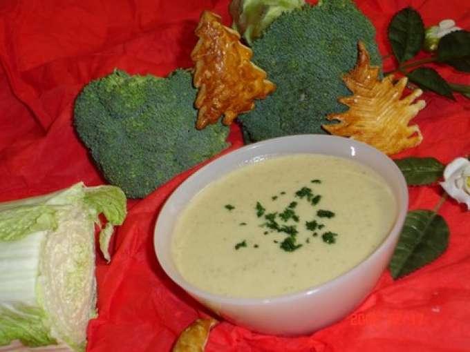 Potage aux brocolis et choux chinois recette ptitchef - Soupe de brocolis thermomix ...