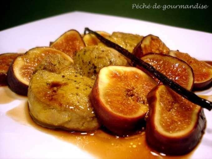 escalopes de foie gras aux figues recette ptitchef. Black Bedroom Furniture Sets. Home Design Ideas