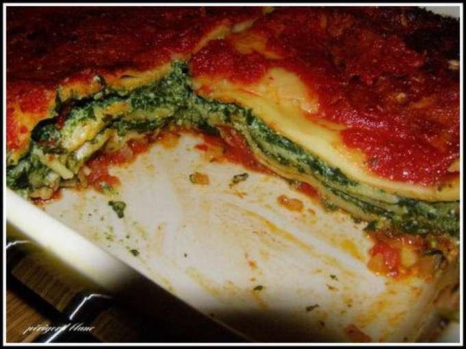 epinard ricotta lasagne