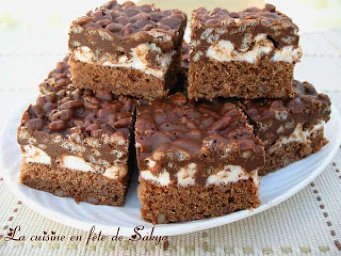 barres de r 234 ves au chocolat et 224 la guimauve recette ptitchef