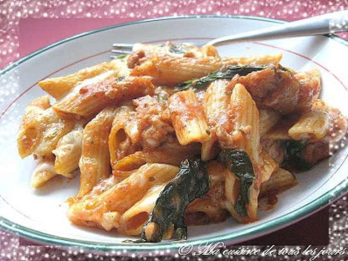 gratin de p 226 tes aux saucisses recette ptitchef