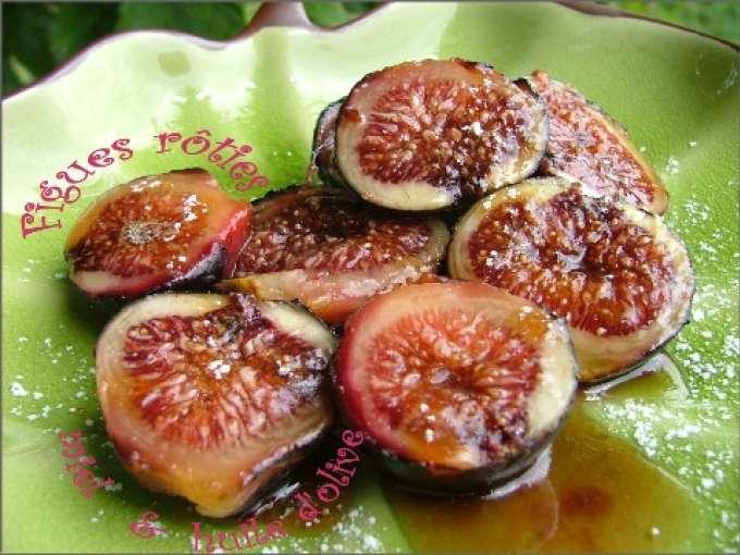 Figues r ties sur plancha l 39 huile d 39 olive au miel recette ptitchef - Figues roties au miel ...