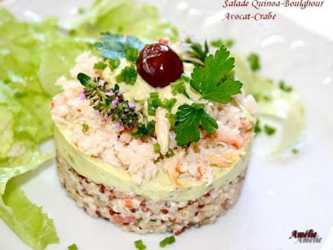 Salade de quinoa et boulgour avocat et crabe recette ptitchef - Comment cuisiner le quinoa recettes ...