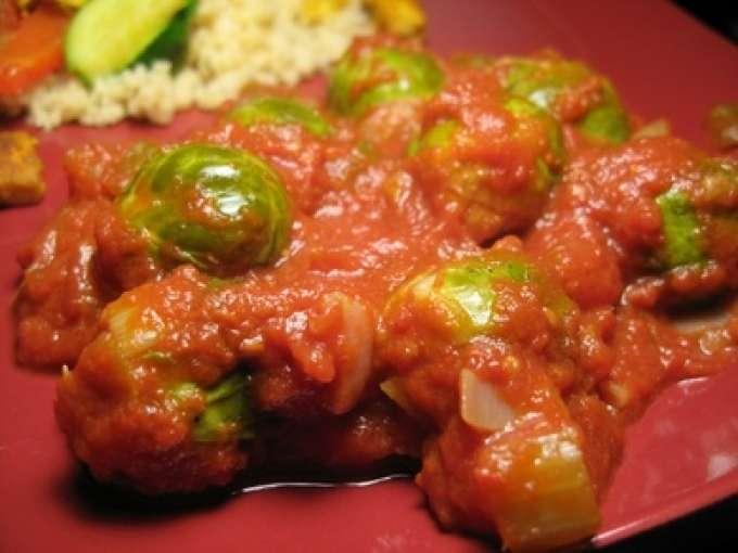 Casserole de choux de bruxelles en sauce tomate recette - Cuisiner chou de bruxelles ...