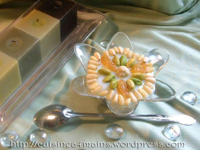Petites verrines tunisiennes ou assidat zgougou recette for Recette assida zgougou