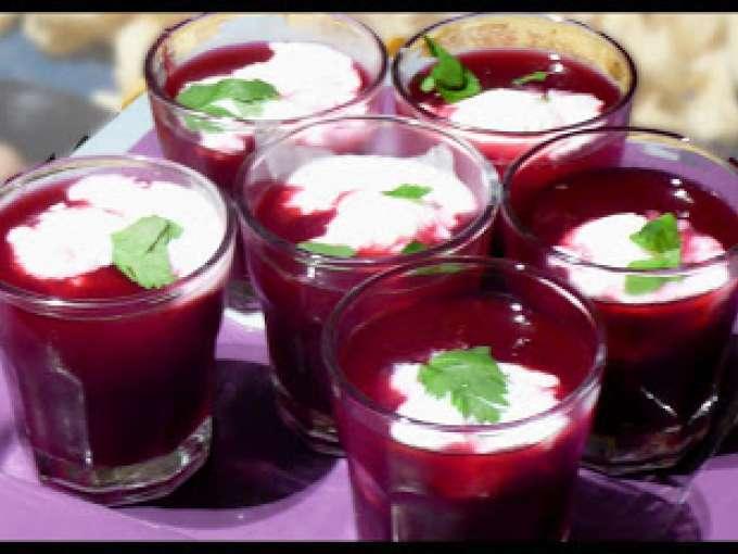 Glace au ch vre et soupe de betterave avec ou sans - Soupe betterave thermomix ...