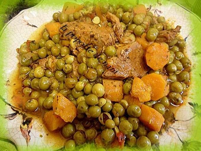 Tajine aux petits pois et carottes recette ptitchef - Comment cuisiner les petits pois ...
