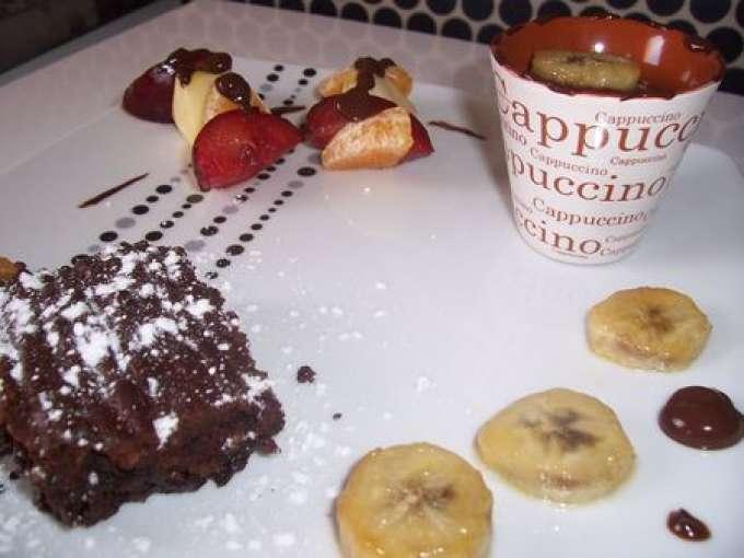assiette gourmande au chocolat recette ptitchef