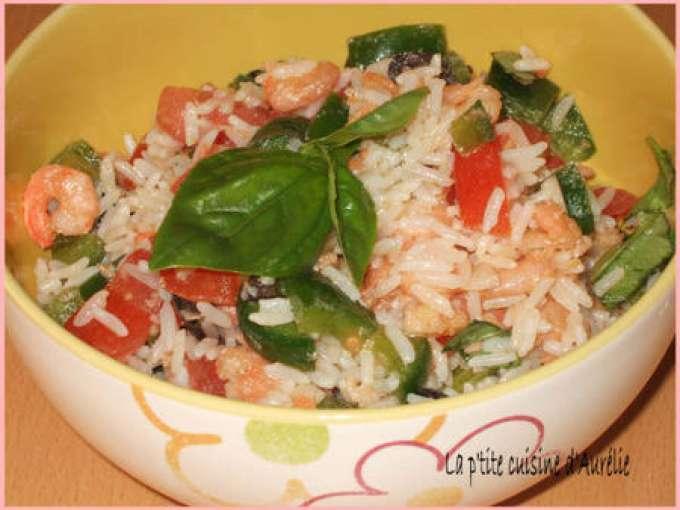 salade fraiche riz crevette basilic recette ptitchef. Black Bedroom Furniture Sets. Home Design Ideas