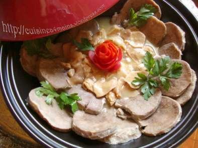 Tajine : langue de boeuf aux champignons, Recette Ptitchef