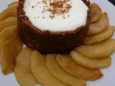 Recette Cheesecake Pommes Speculoos, sans cuisson