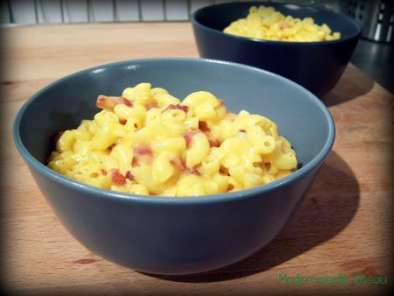 Recette Suite de la saga mac&cheese: les macaroni and cheese au bacon