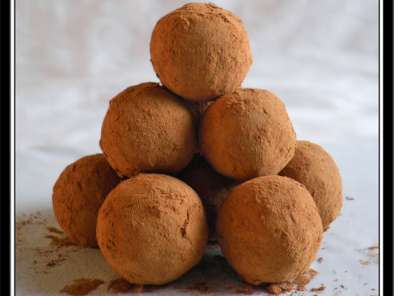 Recette Truffes chocolat framboise...