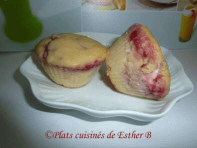 Recette Muffins au fromage Philadelphia et framboise