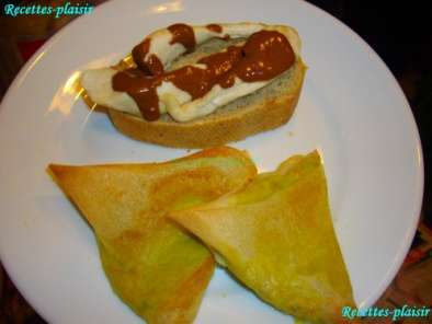 Recette Tartine poulet sauce chocolat / feuille de brick surprise