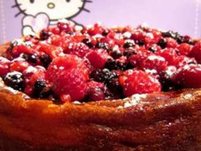 Recette Cheesecake chocolat blanc et fruits rouges, base de speculoos
