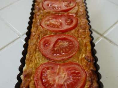 Recette Tarte thon, tomate, moutarde.