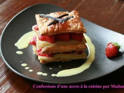 Recette Millefeuille fraises-rhubarbe