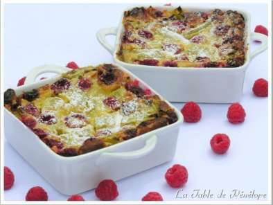 Recette Clafoutis framboises - rhubarbe
