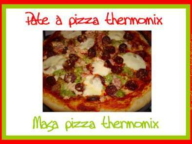 Recette Pâte à pizza thermomix - masa pizza thermomix
