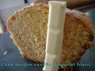 Recette Cake tendre vanille chocolat blanc