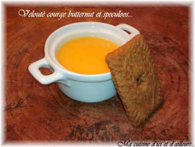 Recette Velouté courge butternut et speculoos
