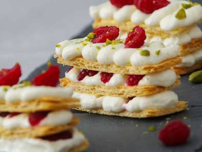 Recette Mille-feuille framboises