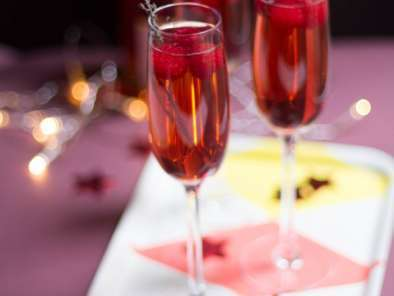 Recette Cocktail champagne fruits rouges