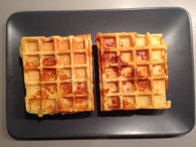 Recette Cheesy waffles (gaufres au fromage)