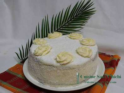 Recette Layer cake ananas et coco.