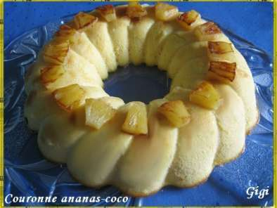 Recette Couronne ananas-coco