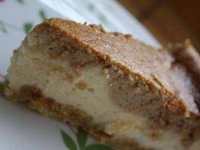 Recette Cheesecake au fromage blanc vanille & caramel